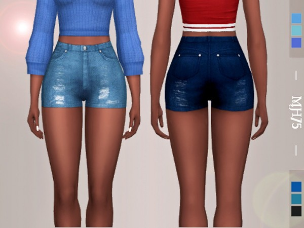 The Sims Resource: Merriel Distressed Shorts by Margeh 75