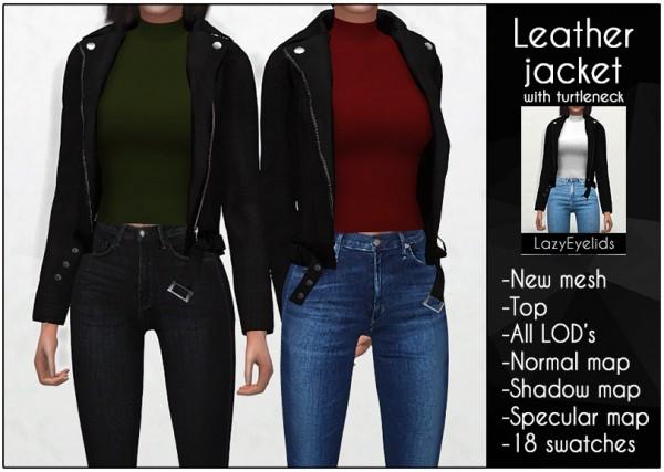 Lazyeyelids: Leather Jacket