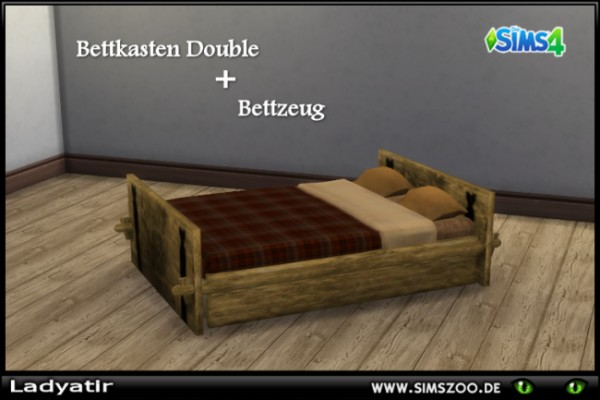 Blackys Sims 4 Zoo: Bed box double by ladyatir