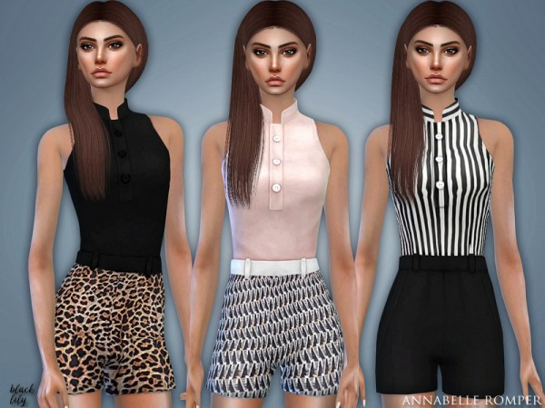 The Sims Resource: Annabelle Romper by Black Lily
