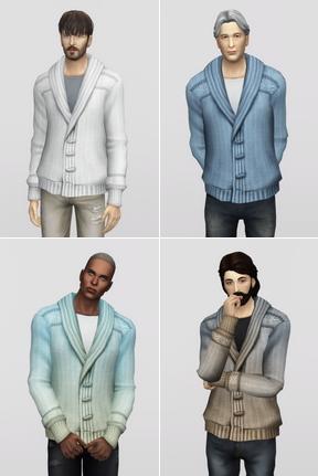 Rusty Nail: Shawl Collar Cardigan Sweater for M