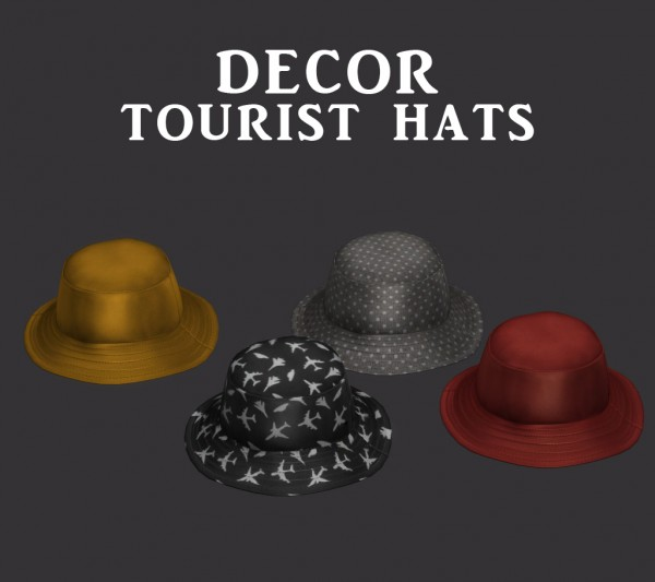 Leo 4 Sims: Tourist Hats