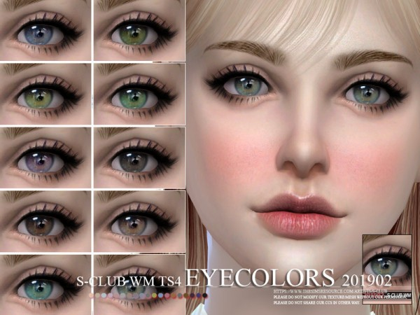 The Sims Resource: Eyecolors 201902 by S Club