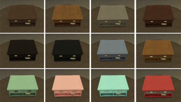Mod The Sims: Coffee Tables recolored  by simsi45
