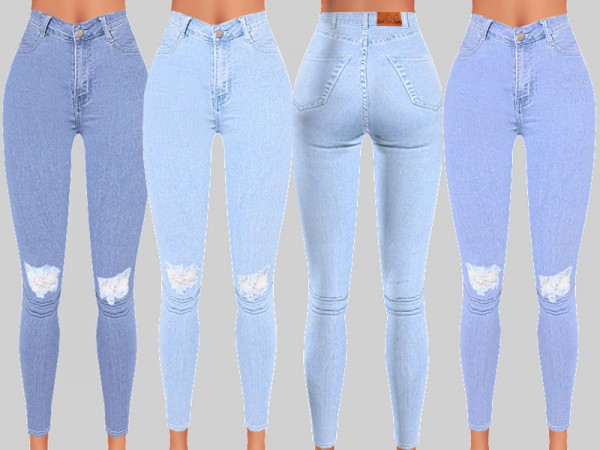 The Sims Resource: Denim Skinny Jeans 059 by Pinkzombiecupcakes