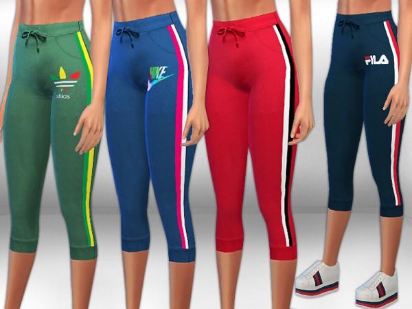 The Sims Resource: Activewear Bermuda Pants by Saliwa