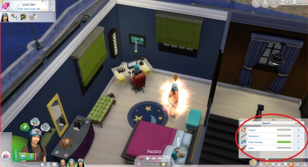 Mod The Sims: Teenager get skill bonus from parents by Ionfrigate