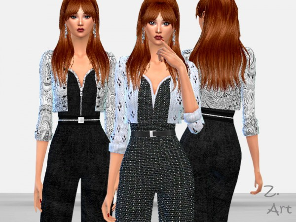The Sims Resource: PartyZ. 05 jumpsuit by Zuckerschnute20