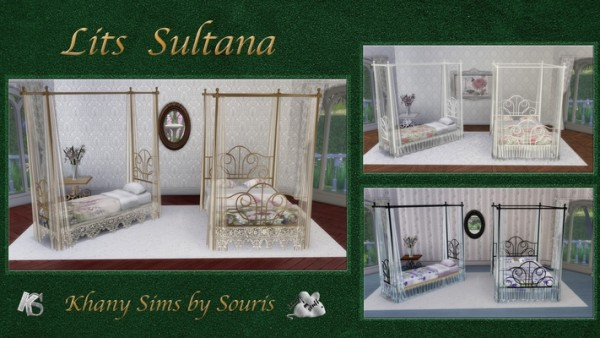 Khany Sims: Sultana bed by Souris
