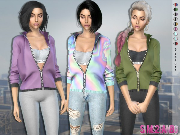 The Sims Resource: 370   Open Jacket with Top by sims2fanbg