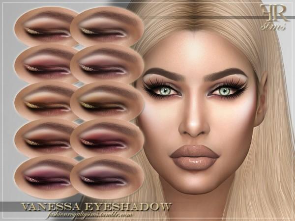 The Sims Resource: Vanessa Eyeshadow by FashionRoyaltySims