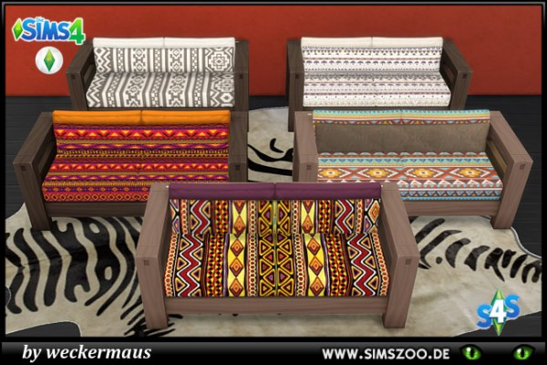 Blackys Sims 4 Zoo: African Style Love Seat by weckermaus