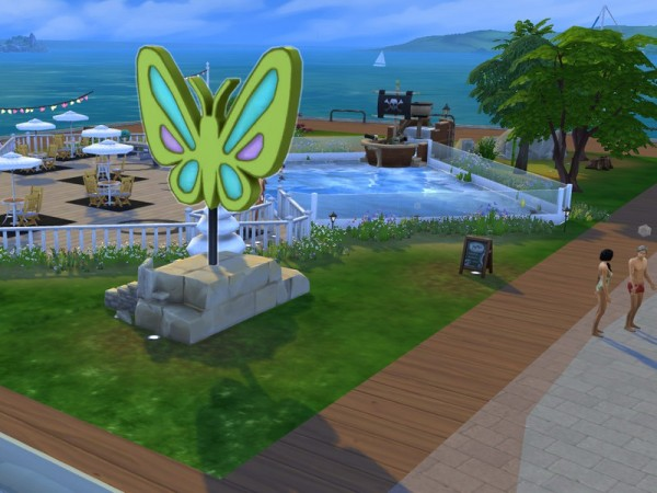 The Sims Resource: Butterfly Swim Park by LaReineDubois
