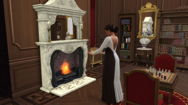 Mod The Sims: Victorian Fireplace converted by TheJim07