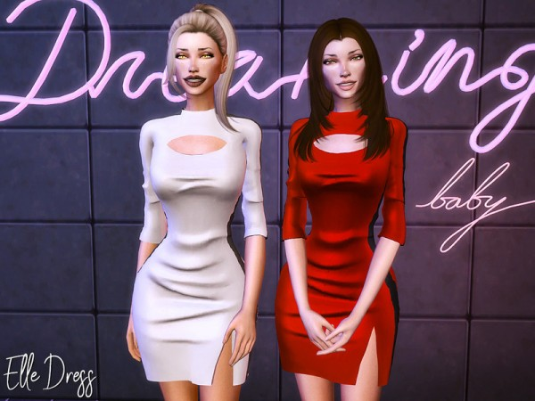 The Sims Resource: Elle Dress by Genius666