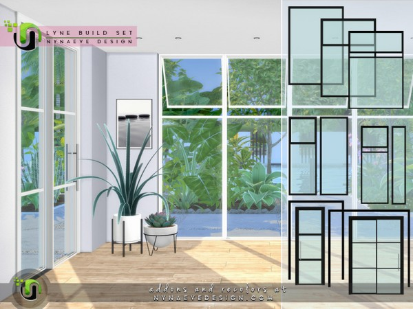 The Sims Resource: Lyne Build Set I by NynaeveDesign