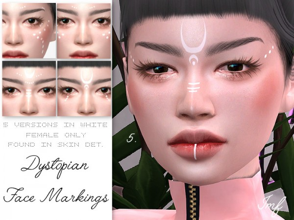 The Sims Resource: Dystopian Face Markings by IzzieMcFire