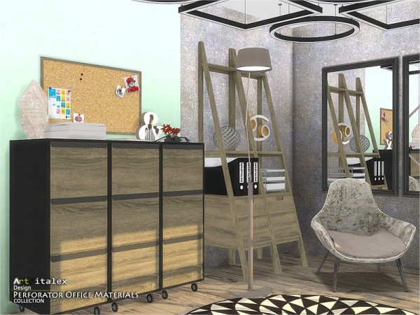 The Sims Resource: Perforator Office Materials by ArtVitalex