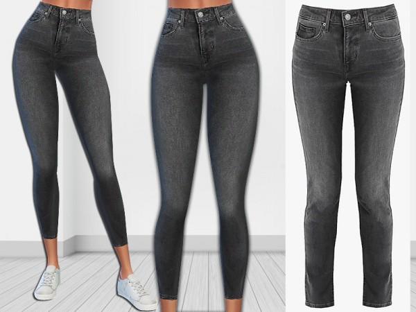 The Sims Resource: Skinny Smokey Jeans by Saliwa