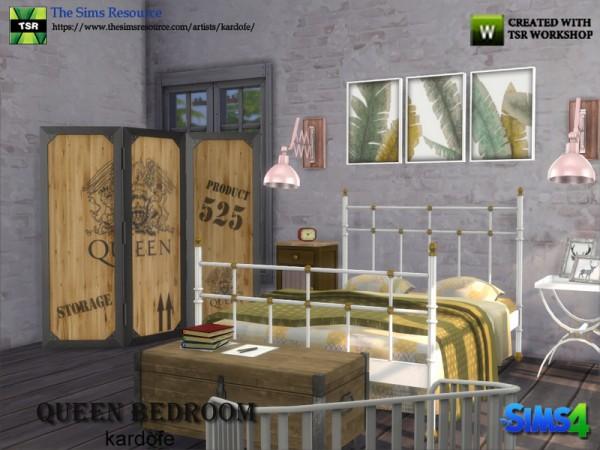 The Sims Resource: Queen Bedroom by Kardofe
