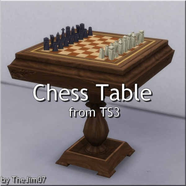 Mod The Sims: Chess Table converted by TheJim07