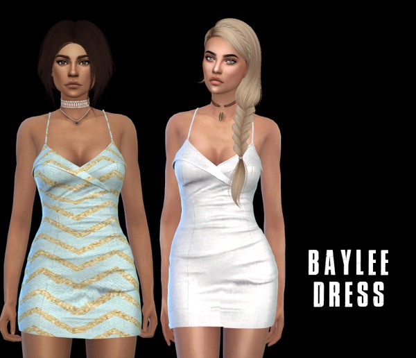 Leo 4 Sims: Baylee Dress recolored