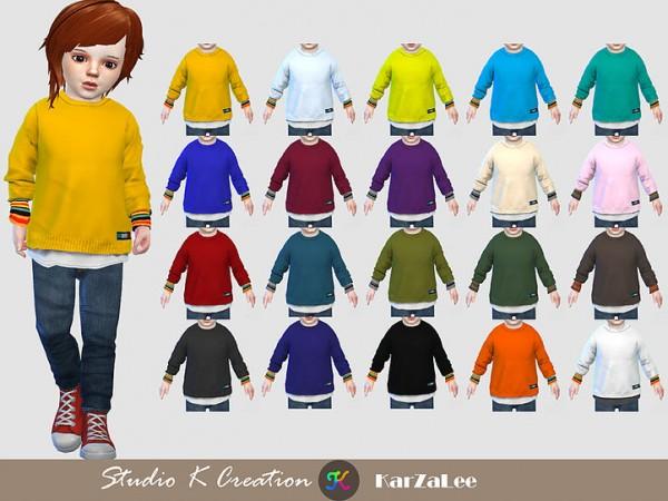 Studio K Creation: Layered short Sweater for toddler