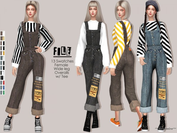 The Sims Resource: FILE   Denim Overalls by Helsoseira