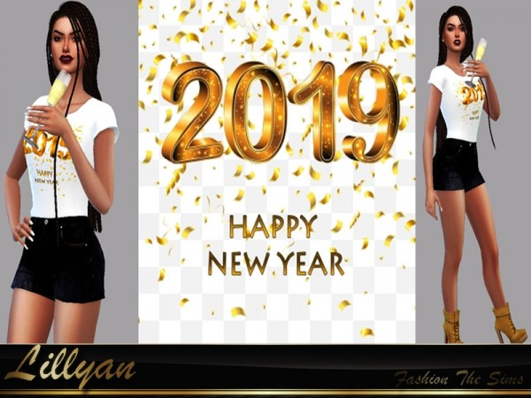 The Sims Resource: Top Happy New Year by LYLLYAN
