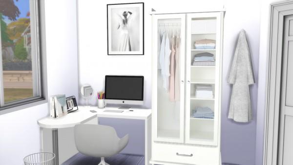 Models Sims 4: All White Bedroom