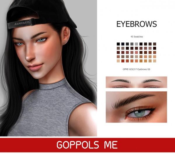GOPPOLS Me: F Eyebrows G6