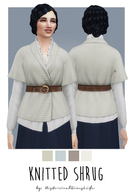 History Lovers Sims Blog: Knitted Shrug