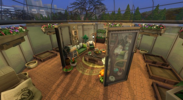 Mod The Sims: Cozy Glass GreenHouse (no CC) by PinkyDude