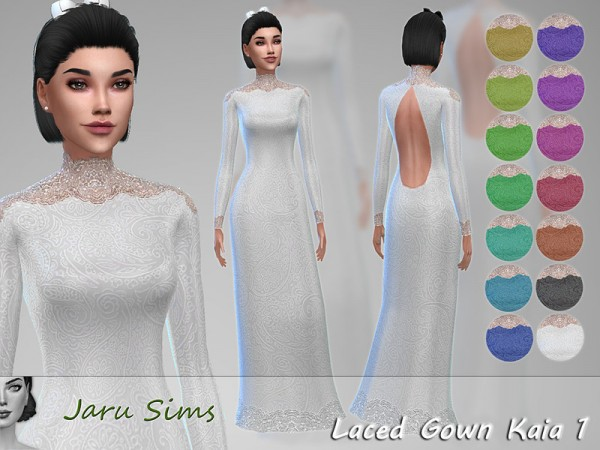The Sims Resource: Laced Gown Kaia by Jaru Sims