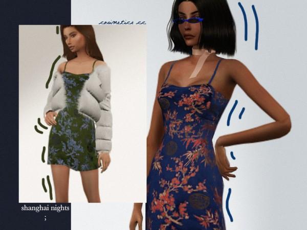 The Sims Resource: Shanghainights dress by cosimetics
