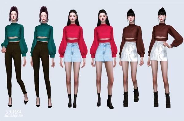 SIMS4 Marigold: Crack Crop Sweatshirt