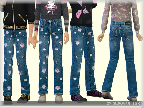The Sims Resource: Jeans Buds by bukovka