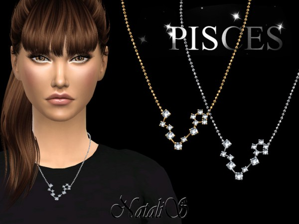 The Sims Resource: Pisces zodiac necklace by NataliS
