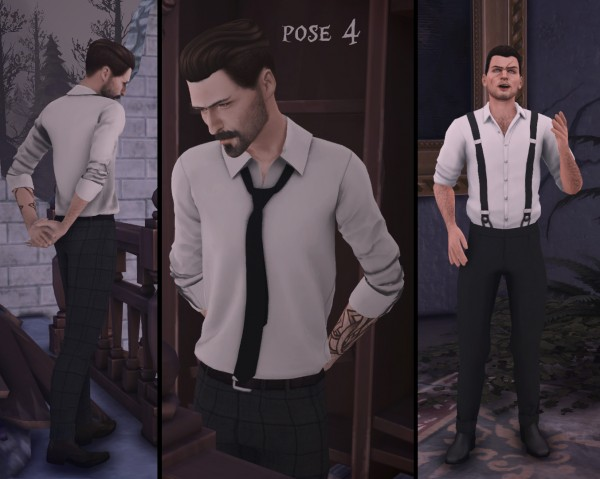Mod The Sims: Vampire Slayer Pose Pack by Monster without name
