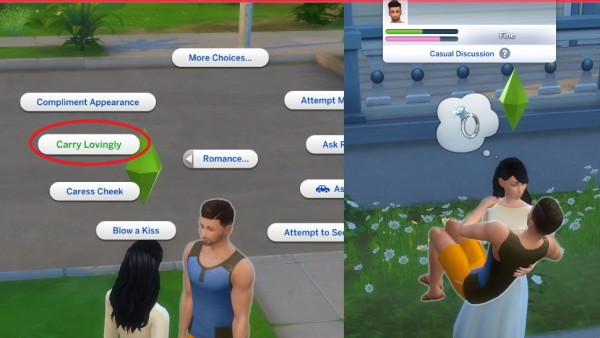 Mod The Sims: Leap Into Arms and Carry Lovingly  by andrian m.l
