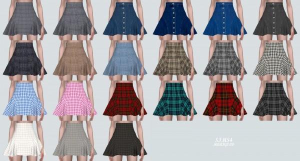 SIMS4 Marigold: Side Flare Mini Skirt