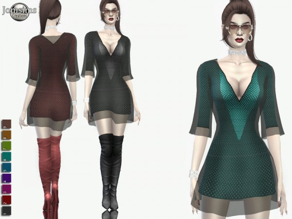 The Sims Resource: Claemi dress by jomsims