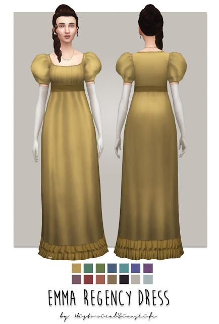 History Lovers Sims Blog: Ema Regency Dress