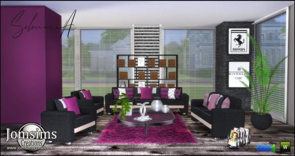 Jom Sims Creations: Selenaria Livingroom