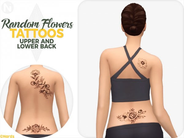 The Sims Resource: Random Flowers Tattoos by Nords