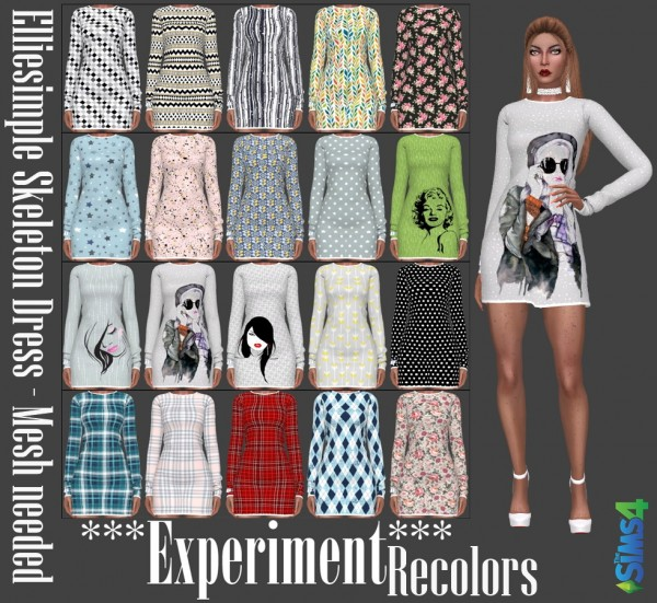 Annett`s Sims 4 Welt: Thats me too! EXPERIMENT   Dresses, Sweater and Jumpsuit