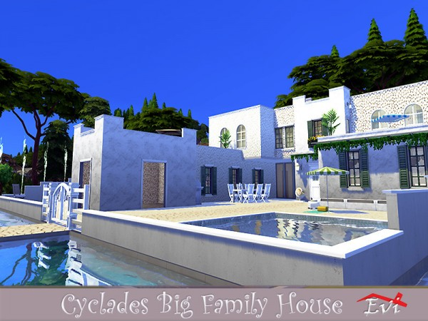 The Sims Resource: Cyclades Big Family House by evi