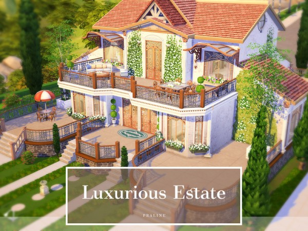 The Sims Resource: Luxurious Estatehouse by Pralinesims