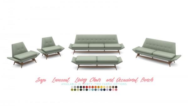 Simsational designs: Vice sofa series mid century inspired