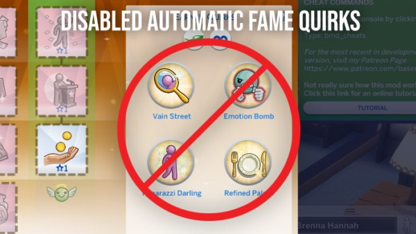 Mod The Sims: Disabled Automatic Fame Quirks by Wiggler